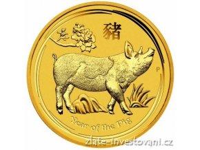 6785 investicni zlata mince rok vepre 2019 1 4 oz