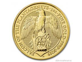 6815 investicni zlata mince sokol kralovny anglie 2019 heraldicka serie 1 oz