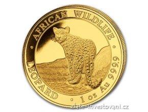 6824 investicni zlata mince leopard 2018 somalsko 1 oz