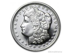 6833 stribrna mince americky dolar morgan dollar novorazba 1 2 oz