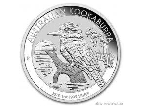 6854 investicni stribrna mince australsky kookaburra 2019 1 oz