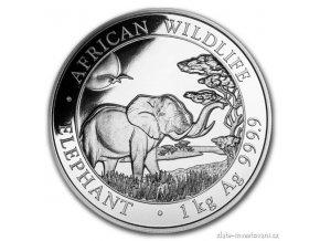 Investiční stříbrná mince somálský slon 2019 1 Kg