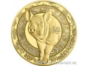 6866 zlata mince lunarni rok vepre 2019 proof francie
