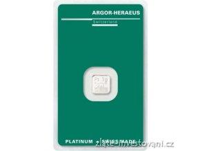 6893 investicni platinova cihla argor heraeus 1g