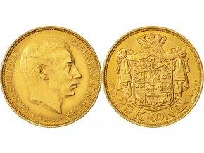 Zlatá dánská dvacetikoruna Christian X.