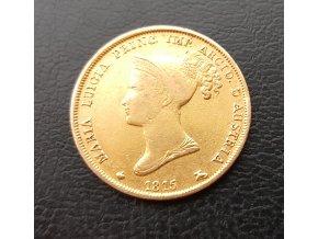 Zlatá 40 lira Maria Louise-Parma 1815
