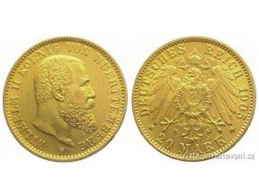 Zlatá mince 20 marka-Wilhelm II. 1891-1918