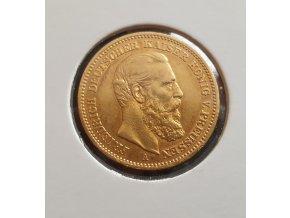 Zlatá mince pruská 20 marka-Friedrich III.