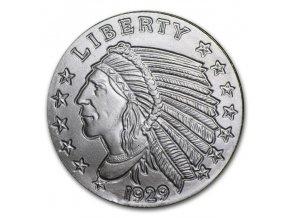 Investiční stříbrná mince Indián-USA 1/4 Oz