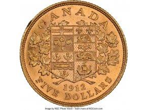 Zlatá mince král George V.-Kanada 5 dolarů