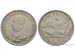 Stříbrný pruský Tolar 1820 Friedrich Wilhelm III. tolar