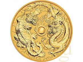 Investiční zlatá mince Tygr a Drak 2019-Austrálie 1 Oz