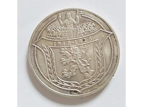 Stříbrná dukátová medaile Jsem ražen z českého kovu-1918-1928