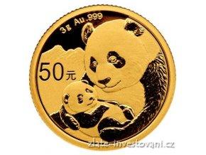 Investiční zlatá mince čínská Panda 2019 3g
