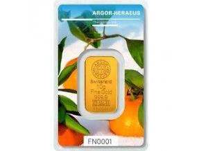 Investiční zlatá cihla Argor Heraeus-Zima 2018 limitovaná edice 10g