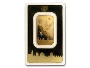 Investiční zlatá cihla Izrael Holubice-Jeruzalém 1 Oz