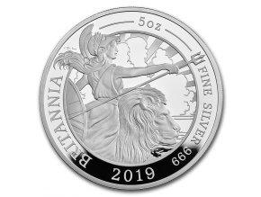 Stříbrná mince Britannia 2019 Silver Proof 5 Oz