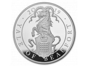 tříbrná mince Yale of Beaufort 10 Oz-2019-proof