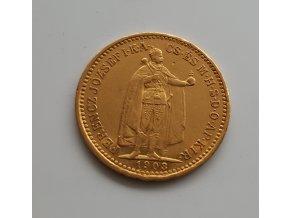 Zlatá mince  Desetikoruna Františka Josefa I.- uherská ražba 1903 K.B.