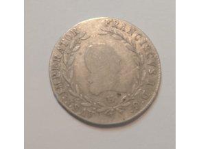 Stříbrný 20 krejcar František I. 1815E B