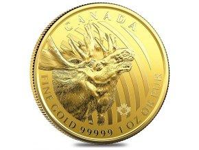 Investiční zlatá mince Los 2019-série Wild life Kanada 1 Oz