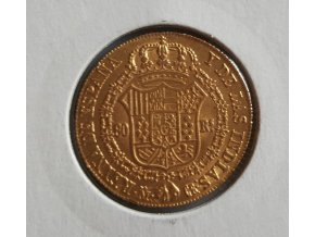 Zlatý španělský 80 real Isabela II.