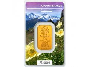Investiční zlatý slitek Argor Heraeus-Jaro 2019 limitovaná edice 10g