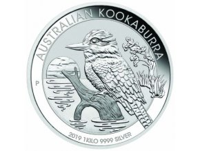 Investiční stříbrná mince australský Kookaburra 2019 1 Kg