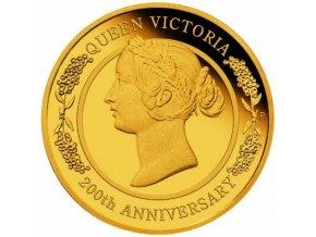Zlatá mince 200. výročí královny Victorie 2019-Proof 1/4 Oz