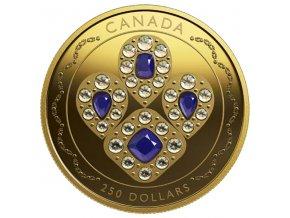 SAPPHIRE TIARA Queen Elizabeth 2 Oz zlatá mince 250$ Canada 2019