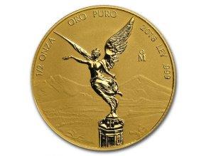 Investiční zlatá mince Libertad reverzní proof 2018-Mexiko 1/2 Oz