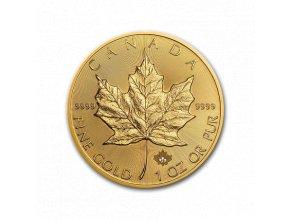 Investiční zlatá mince Kanadský Maple Leaf 1 Oz-incuse verze 2019
