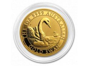 Zlatá investiční mince australská Labuť-Perth Mint 2019 1 Oz