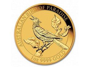Zlatá investiční mince Bird of Paradise-Austrálie 2019 1 Oz-Manucodia