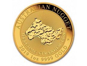 Investiční zlatá mince australský nugget -2019 1 Oz
