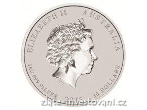 3551 2 investicni stribrna mince rok kozy 2015 1 kg
