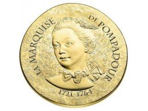 Zlatá mince Madame de Pampadour  2017