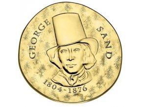 Zlatá mince George Sand  2017