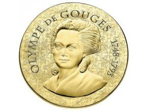 Zlatá mince Olympe de Gouges  2017