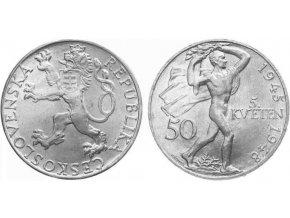 Stříbrná 50 koruna 3. výročí Pražkého povstání 1945-1948