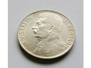 Stříbrná 100 koruna Stalin 1949-70. výročí