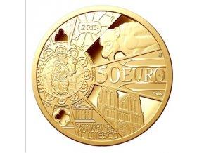 Zlatá mince Notre Dame 2019-proof-50 Eur