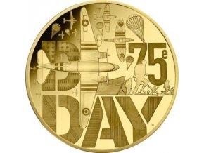 Zlatá mince D-Day 75. výročí vylodění v Normandii-2019-1 Oz