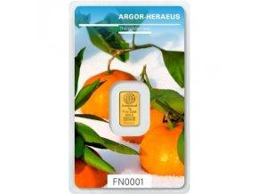 Investiční zlatý slitek Argor Heraeus-Zima 2018  limitovaná edice Švýcarsko 1g