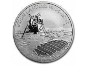 Stříbrná mince 50.výročí přistání na Měsíci -Anniversary of the Moon landing 2019