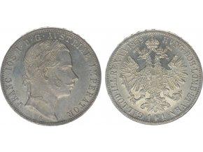 Stříbrný 1 zlatník Františka Josefa I. 1859 A