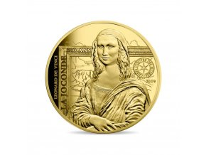 Zlatá mince Mona Lisa 2019-proof 1 Oz