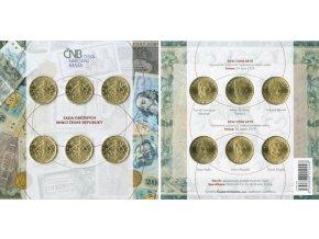 Sada oběžných 20 Kč mincí v běžné kvalitě