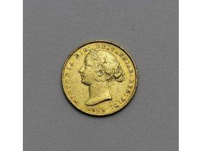 Zlatá mince australský Sovereign-Victoria 1864