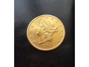 3185 investicni zlata mince americky double eagle liberty 1904